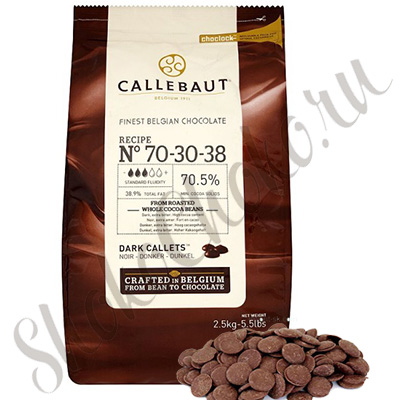 Бельгийский темный шоколад Callebaut 70,5 % 10 кг