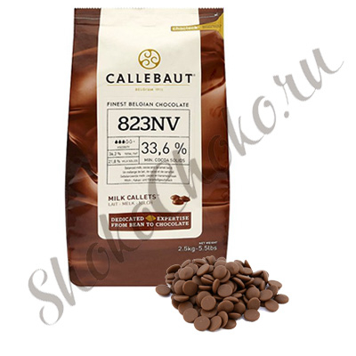 Бельгийский молочный шоколад Callebaut 33,6% какао 2,5 кг