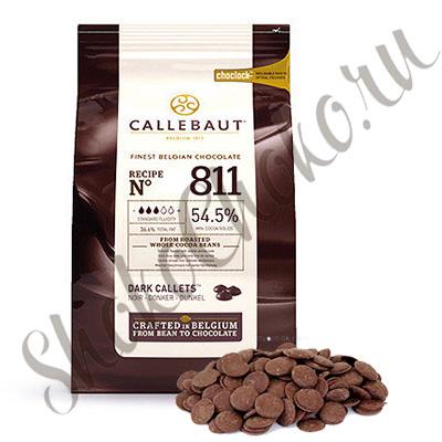 Бельгийский темный шоколад Callebaut 54,5 % какао 2,5 кг