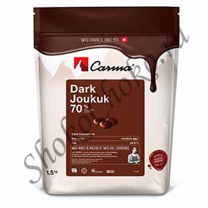 Темный шоколад Joukuk Carma 70 % какао 1,5 кг