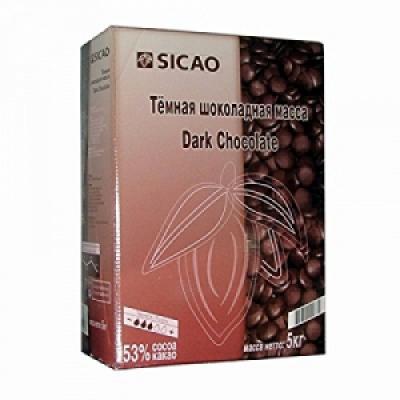 Темный шоколад Sicao 53% какао 5 кг