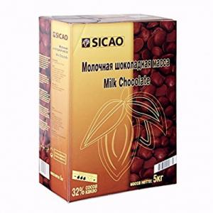 Молочный шоколад Sicao 33% какао 5 кг