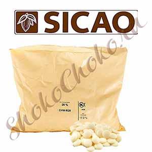 Шоколад белый Sicao 28%, 2.5 кг