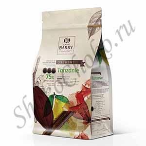 Шоколад темный 75% какао Tanzanie Cacao Barry 1кг (Франция)