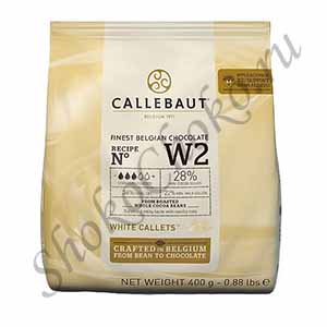 Бельгийский белый шоколад Callebaut 400 гр