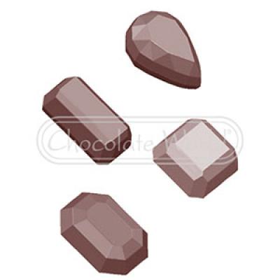Форма для шоколада Germs 4 фигуры 1632 CW