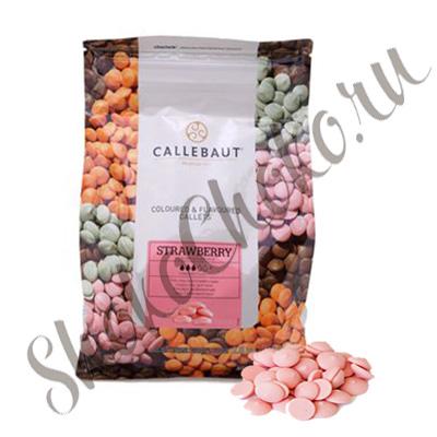 Шоколад розовый со вкусом клубники Callebaut 2,5 кг