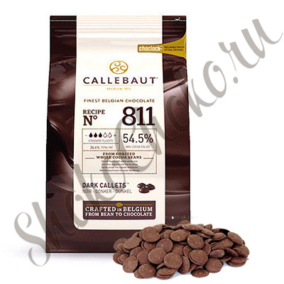 Бельгийский темный шоколад Callebaut 54,5 % какао 200 гр