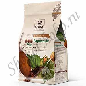 Шоколад молочный 35% какао Papouasie Cacao Barry 1 кг (Франция)