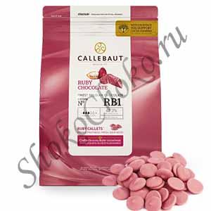 Шоколад рубиновый Ruby Callebaut 2,5 кг