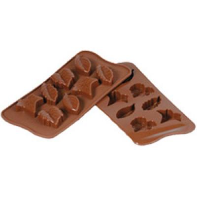 Форма для шоколада Silikomart Scg10 листики