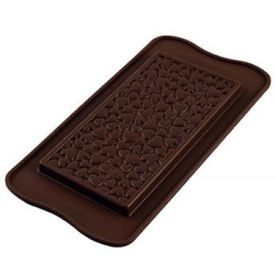 Форма для шоколада Silikomart Scg38 шокобар любовь