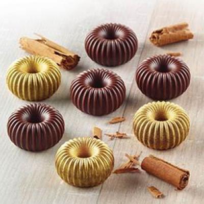 Форма силиконовая ИЗИ-ШОК шоколадная корона Silikomart SCG49