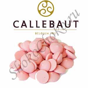 Шоколад розовый со вкусом клубники Callebaut 0,5 кг