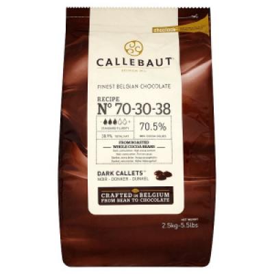 Темный (горький) шоколад Callebaut 70,5 % какао 10 кг