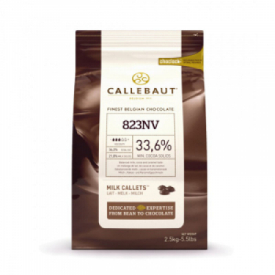 Молочный шоколад Callebaut 33,6% какао 2,5 кг