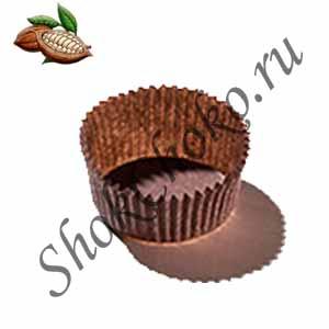 Капсула для конфет коричневая 75 шт