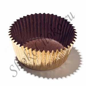 Капсула для конфет золотая 35 шт