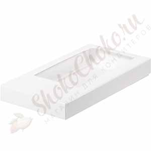 Коробка для шоколадной плитки белая (160*80*17)