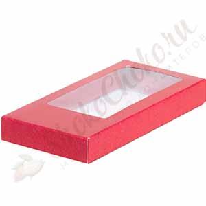 Коробка для шоколадной плитки красная (160*80*17)