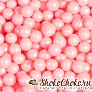 Розовые шоколадные жемчужины Callebaut 100 г