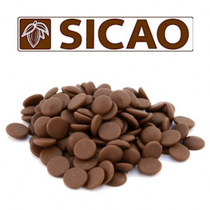 Молочный шоколад Sicao 33% какао 1 кг