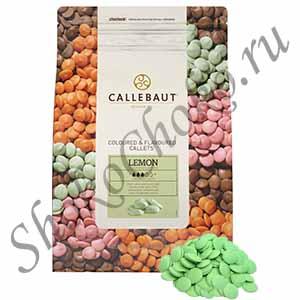 Шоколад зеленый со вкусом лимона Callebaut 2,5 кг
