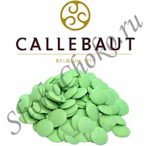 Шоколад зеленый со вкусом лимона Callebaut 1 кг