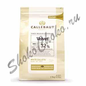 Бельгийский белый шоколад Velvet Callebaut 32 % какао 2,5 кг